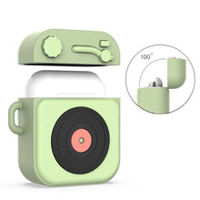 Load image into Gallery viewer, Airpods Protective Cover for Apple Bluetooth Headset Set Silicone Cartoon Protective Sleeve Ins Epoxy Craft Cartoon Phonograph Retro Style