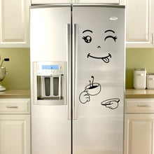 Load image into Gallery viewer, 1Pcs Cute Sticker Fridge Happy Delicious Face Kitchen Fridge Wall Stickers Art