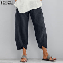 Load image into Gallery viewer, ZANZEA Women's Long Pants Casual Solid Wide Legs Harem Pants Plain Trousers Plus