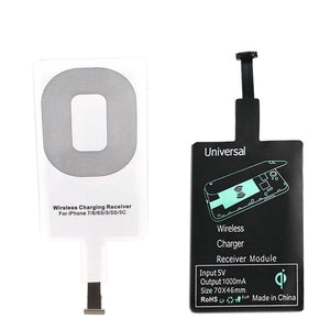 Qi Wireless Charger Adapter Charging Receiver For iPhone Andriod Type-C