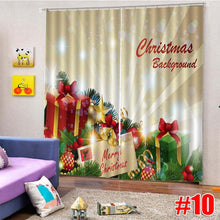 Load image into Gallery viewer, 10 Style 2Pcs Christmas Window Curtain Home Living Room Bedroom Curtains Thermal Drapes Door Screen Decoration