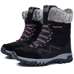 Winter Warm Cotton Shoes Large Size Boots Women's Thick Snow Boots Short Boots Ankle Boots