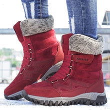 Load image into Gallery viewer, Winter Warm Cotton Shoes Large Size Boots Women's Thick Snow Boots Short Boots Ankle Boots