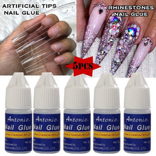 Load image into Gallery viewer, 5PCS 3g False Nails Glue Rhinestone Glue Nail Art Tips Glue Fast Drying Strong Glue for Artificial Nails/Nail Art