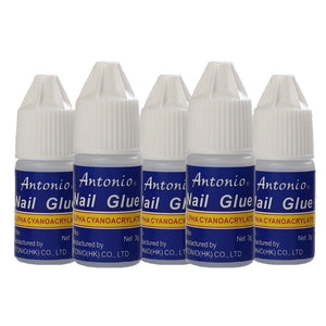 5PCS 3g False Nails Glue Rhinestone Glue Nail Art Tips Glue Fast Drying Strong Glue for Artificial Nails/Nail Art