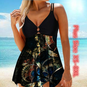 Womens Tankini Set Swimsuit Swimming Suit Swimwear Monokini Bikini Beachwear Plus Size XS-8XL