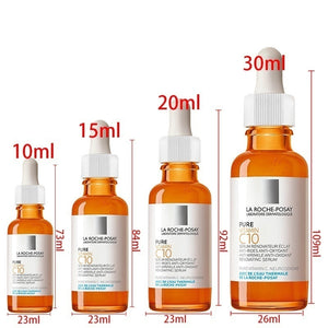 HOT!!! Style LA ROCHE-POSAY 10mL/ 15mL/ 20mL/ 30mL Vitamin C Serum for Face with Hyaluronic Acid Serum - Anti Ageing &Anti-wrinkle&Shrinkage of Pore(Orange)