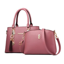 Load image into Gallery viewer, 5 Color Fashion New Ladies Lychee Pattern Large Capacity Simple Shoulder Bag Handbag PU Leather Designer Multifunction Messenger Bag