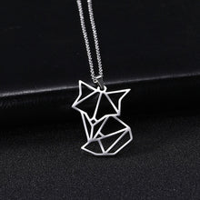 Load image into Gallery viewer, Exquisite Jewelry Lovely Long Tail 925 Sterling Silver Fox Pendant Necklace Chain For Women Girl Kids