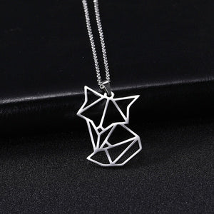 Exquisite Jewelry Lovely Long Tail 925 Sterling Silver Fox Pendant Necklace Chain For Women Girl Kids