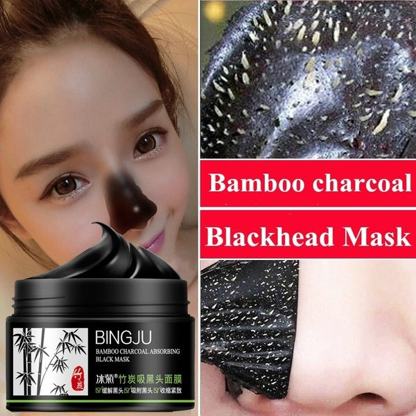 Bamboo Charcoal Black Mask Acne Treatment Blackhead Remover Peel Off Black Head Deep Cleansing Oil Control Pore Cleanser Mask Face Skin Care