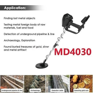 The dragon's treasure is waiting for you to explore! Professional new upgrade MD4030 and MD1008A high sensitivity underground adjustable detector treasure hunter tracker metal circuit detector! Buying is making money! !