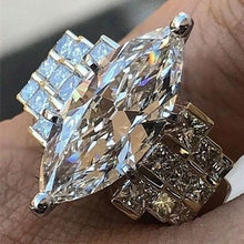 Load image into Gallery viewer, Large 925 Genuine Solid Sterling Silver White Sapphire Diamond Rings Jewelry Bridemaids Gifts Size 6 7 8 9 10 (S925 STAMP)