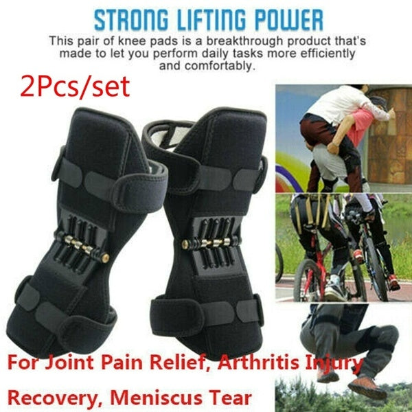 1pc/1Pair Unisex PowerLift Joint Support Knee Pads Powerful Rebound Spring Force