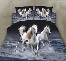Load image into Gallery viewer, 2019 New Style Cotton Bedding 3D Bedding Duvet Cover Sets Printing Colorful Horse Bedding