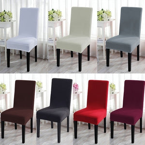 2019 New Cushion Home Decora Dining Chair Covers Spandex Strech Dining Room Chair Protector Slipcover