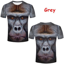 Load image into Gallery viewer, Funny Stereoscopic 3D Monkey Print T-shirt Personality Men's Orangutan Animal Tops