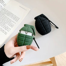 Load image into Gallery viewer, Silicone Grenade Design Protective Case Cover For Apple Airpods Wireless Earphones