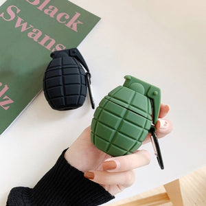Silicone Grenade Design Protective Case Cover For Apple Airpods Wireless Earphones