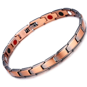 Elegant Copper/Gold/Silver/black Magnetic Therapy Bracelet Pain Relief for Arthritis and Carpal Tunnel