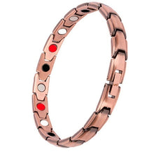 Load image into Gallery viewer, Elegant Copper/Gold/Silver/black Magnetic Therapy Bracelet Pain Relief for Arthritis and Carpal Tunnel
