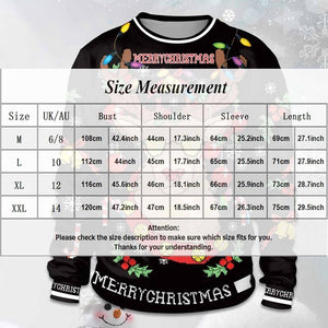 Hot Sale Christmas Printed Women Men Elk Sweatshirt Snowflake Santa Claus Merry Christmas Unisex Ugly Pullover Tops