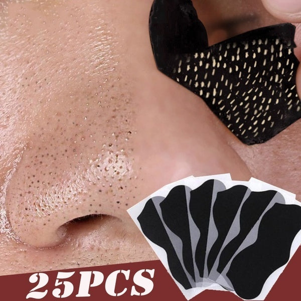 25pcs Nose Blackhead Remover Mask Pore Cleaner Acne Treatment Mask Deep Nose Pore Cleaning
