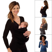 Load image into Gallery viewer, Kangaroo Mummy Multi-Functional Maternity Clothes Casual Long Sleeve T-Shirt.