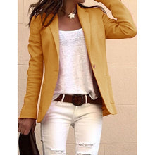 Load image into Gallery viewer, Women Collared Suit Blazer Coat Ladies Long Sleeve Jacket