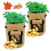 Load image into Gallery viewer, Potato Grow Bag Vegetables Planter Bags planting bag grow bag plant bag beauty planting bag planting tree bag with Handles and Access Flap for Potato Carrot Onion Gardening Supplies