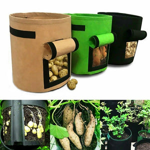 Potato Grow Bag Vegetables Planter Bags planting bag grow bag plant bag beauty planting bag planting tree bag with Handles and Access Flap for Potato Carrot Onion Gardening Supplies