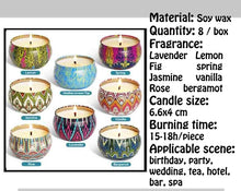 Load image into Gallery viewer, 8 Pieces / Box Aromatherapy Candle Home  Decorative Soy Wax Candles