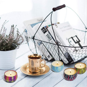 8 Pieces / Box Aromatherapy Candle Home  Decorative Soy Wax Candles