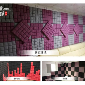 500x500x50/300x300x50mm Sound Absorbing Soundproofing Foam Home Studio Acoustic Sound Treatment Absorption