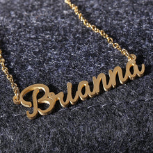 Load image into Gallery viewer, Women Letter Name Emma Emily Pendant Chain Customized Nameplate Necklace Chain Necklace Gift