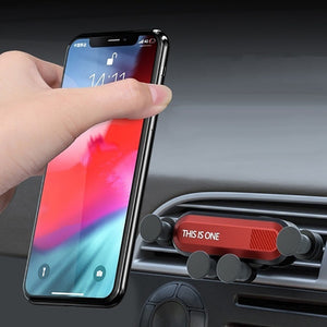 This Is One\ Gravity Car Phone Holder Car Air Vent Mount Holder Mobile Phone Stand Universal 4.7\-6.5\ Smartphone