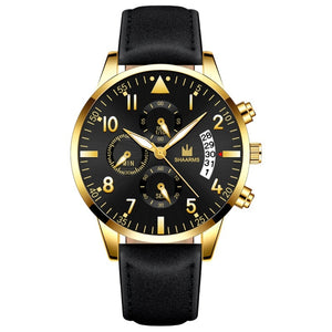 Fashion Men Date Alloy Case Synthetic Leather Analog Quartz Sport Watch Mens Watches Top Brand Luxury Masculino Reloj