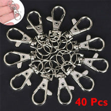 Load image into Gallery viewer, 10/20/30/40 PCS Silver Swivel Trigger Clips Snap Lobster Clasp Hook Bag Key Ring Hooks Gift