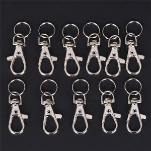 10/20/30/40 PCS Silver Swivel Trigger Clips Snap Lobster Clasp Hook Bag Key Ring Hooks Gift