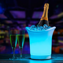 Load image into Gallery viewer, 5L Volume 7 Color Changing LED Light Ice Bucket Bars Nightclubs Ice Bucket Champagne Beer Bucket Plastic