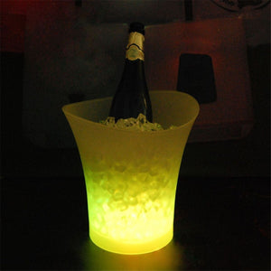 5L Volume 7 Color Changing LED Light Ice Bucket Bars Nightclubs Ice Bucket Champagne Beer Bucket Plastic
