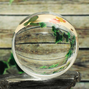 Clear Transparent Glass Crystal Ball Healing Sphere Photography Props