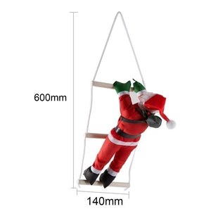 Santa Claus Climbing Stairs Christmas Tree Decoration Large Size With Stair   XX