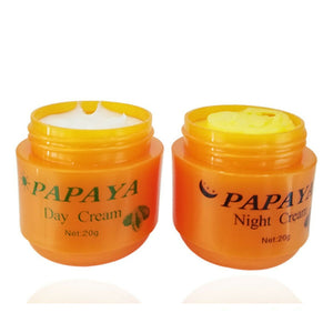 2in1 FEIQUE PAPAYA Whitening Day + Night Cream Anti Freckle Wrinkle Nourishing Skin Fei Que