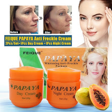 Load image into Gallery viewer, 2in1 FEIQUE PAPAYA Whitening Day + Night Cream Anti Freckle Wrinkle Nourishing Skin Fei Que