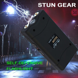 Stun Flashlight  - 3000MV Mini Rechargeable with LED Light and Case Self-Defense Defend Yourself Electric Tazer Flashlight