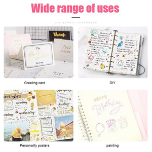 8 Colors/Set Gift Card Writing Drawing Pens Double Line Outline Pen Stationery