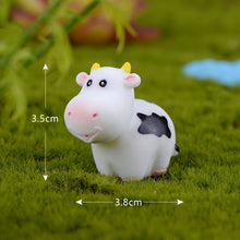 Load image into Gallery viewer, 5Pcs/Set Kawaii Mini Cow Animals Micro Fairy Garden Figurines Miniatures Ornaments Home Bonsai Dollhouse Decorations DIY Accessories