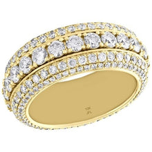 Load image into Gallery viewer, 14K Yellow Gold Full Diamond Eternity Ring Anniversary Gift Engagement Bridal Wedding Rings Jewelry Size 5-10