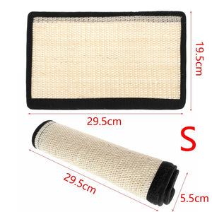 Natural Sisal Cat Anti-Scratching Mat Sofa Protector Cover Furnitures Scratch Guard Mat Anti-stress Couch Protect Pads